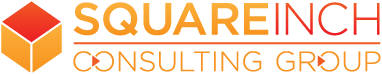 SquareInch Consulting Group Logo resplendent ,in red and orange.
